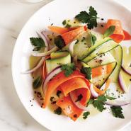 Shaved Carrot and Zucchini Salad