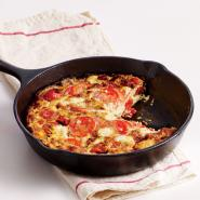 Two-Tomato, Basil, and Goat Cheese Frittata
