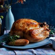 Rosemary Butter-Rubbed Turkey with Porcini Gravy