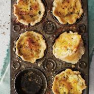 Leek and Smoked Gruyère Mini Quiches