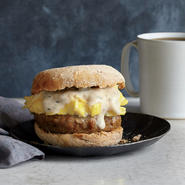 Sausage, Gravy, and Egg Breakfast Sandwiches