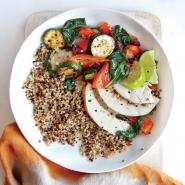 Dinner 3: Fresh Vegetable Quinoa Bowl
