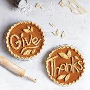 Maple Pumpkin Pie with a Message
