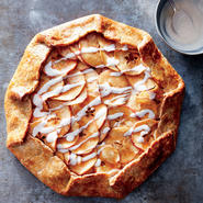 Apple Galette with Vanilla Yogurt Drizzle