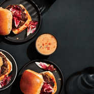 Buffalo-Brisket Sliders with Special Sauce