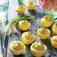 Turmeric-Pickled Deviled Eggs