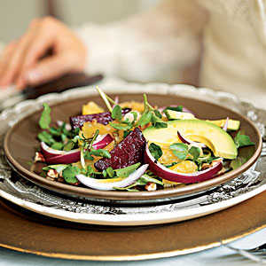 Easter Roasted Beet, Avocado, and Watercress Salad Recipe