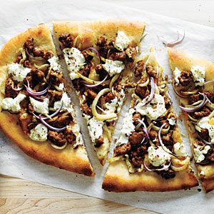 , Fennel, and Ricotta Pizza - Sausage, Fennel, and Ricotta Pizza ...