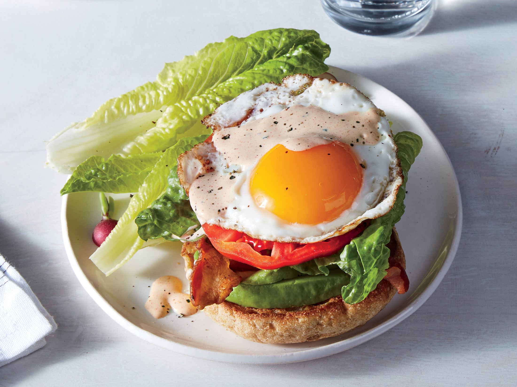 Fried Egg–Avocado Sandwiches