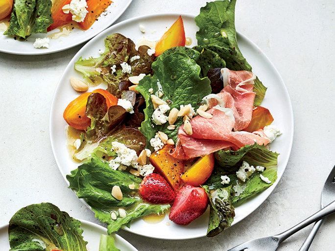 Golden Beet and Roasted Strawberry Salad