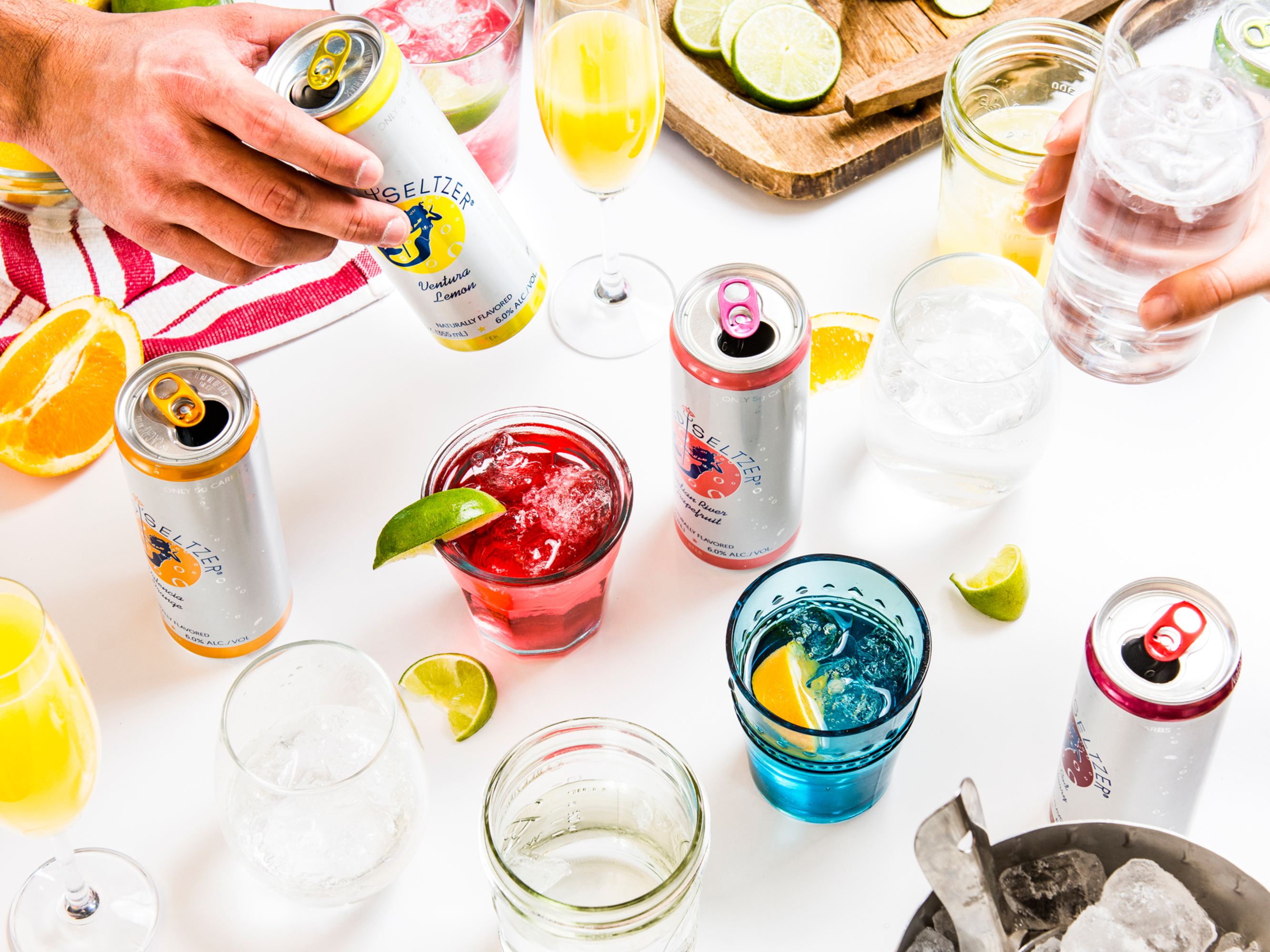 Spiked Seltzer Cans