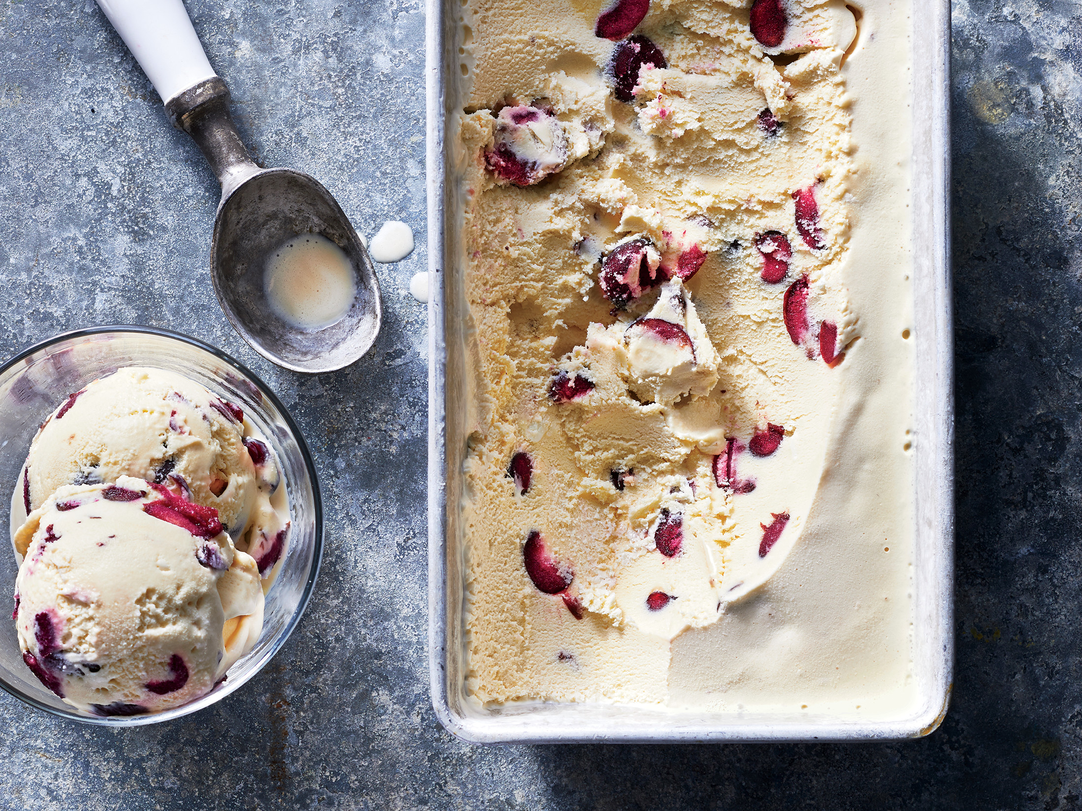 Cherry–Goat Cheese Ice Cream