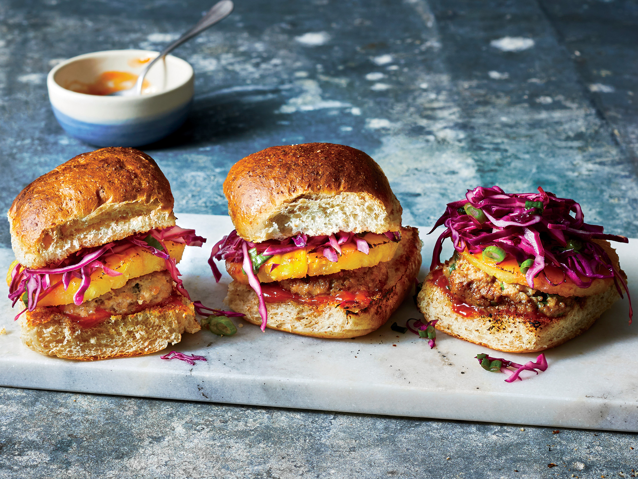 Pork and Charred Pineapple Sliders