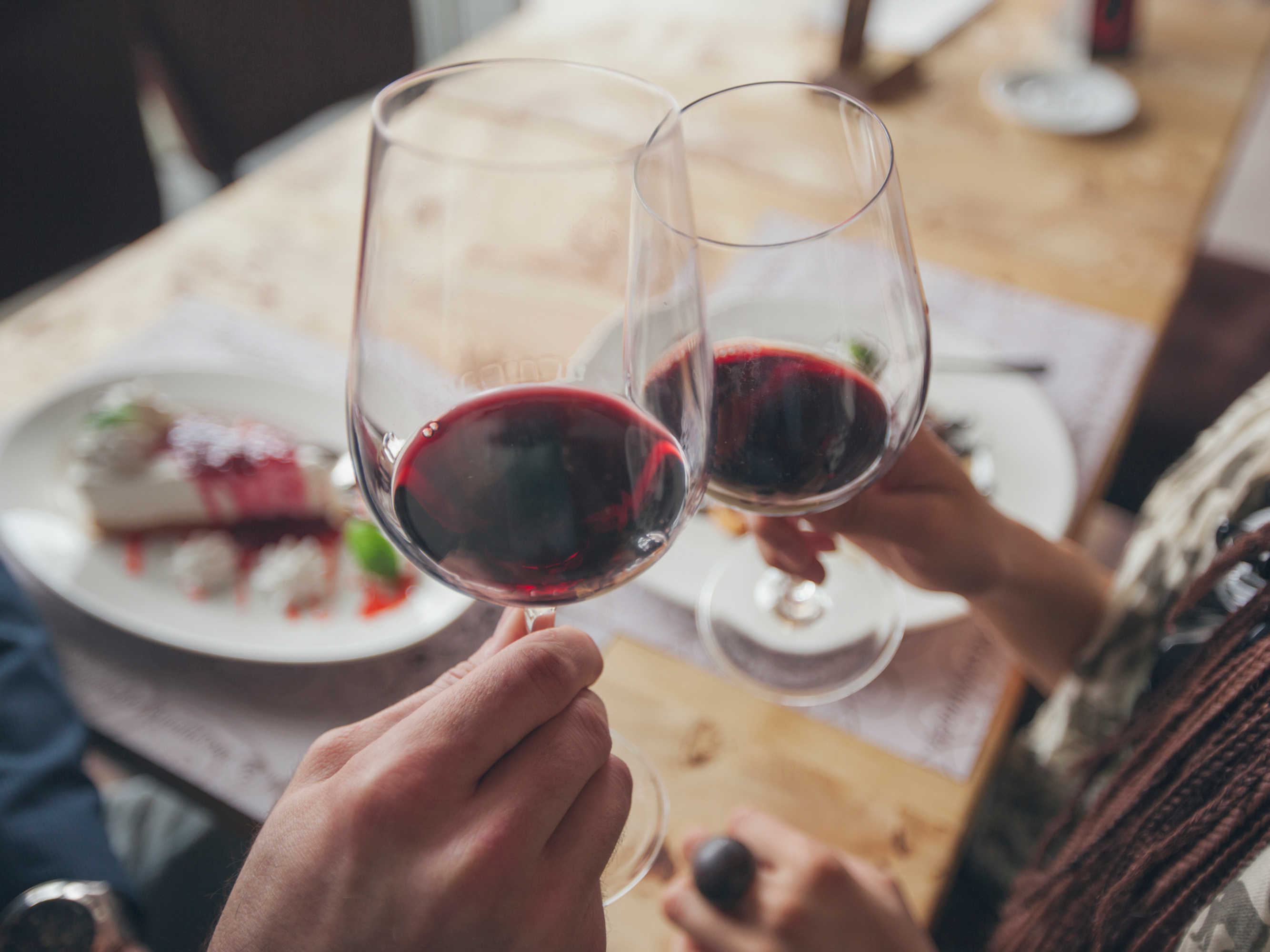 Red Wine Toast with Friends