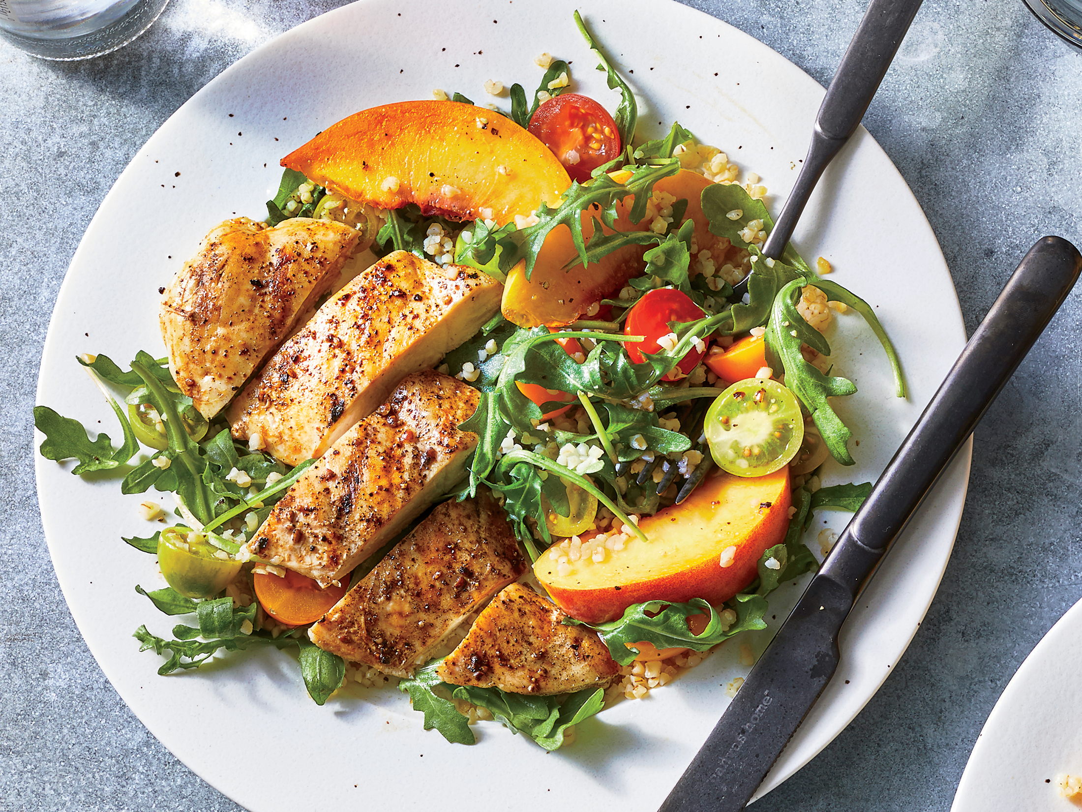 Chicken and Bulgur Salad With Peaches