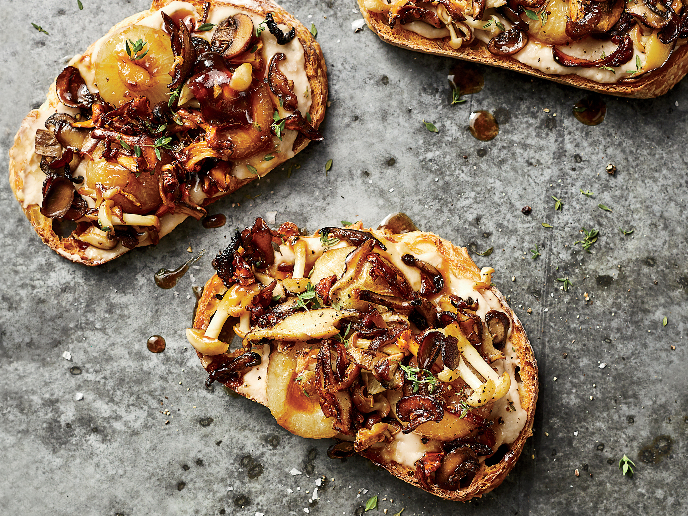 Mushroom and Marsala-Onion Tartines