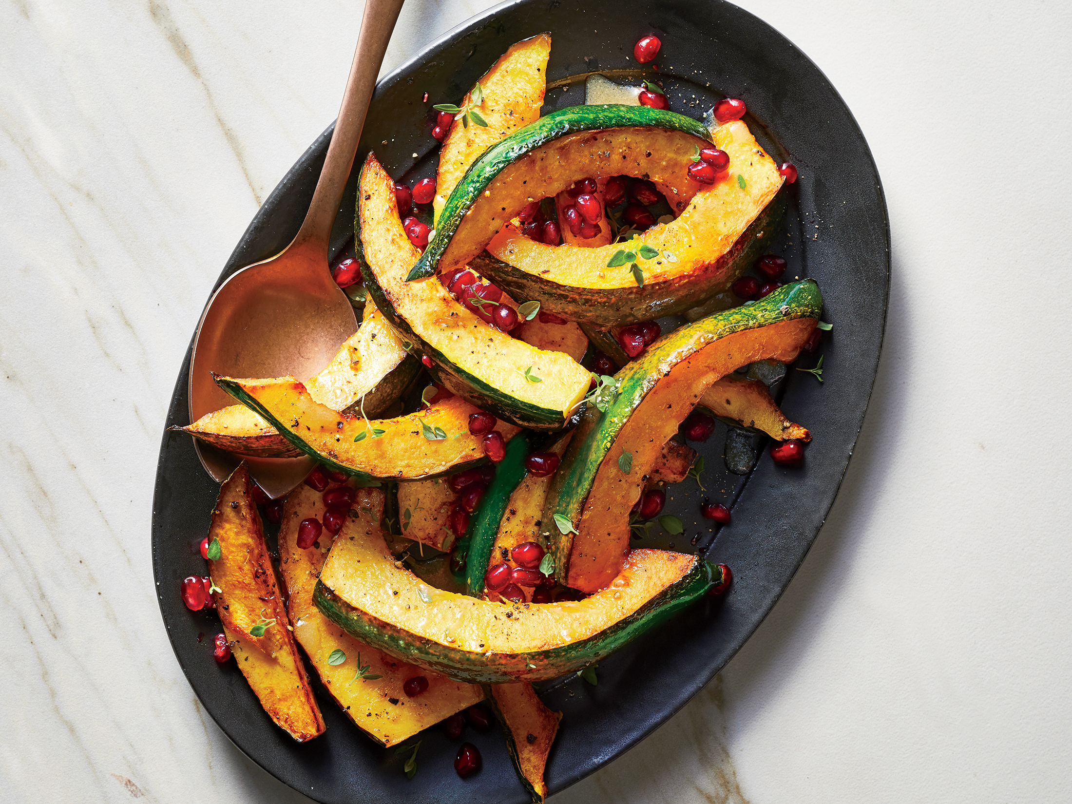 Roasted Acorn Squash with Thyme