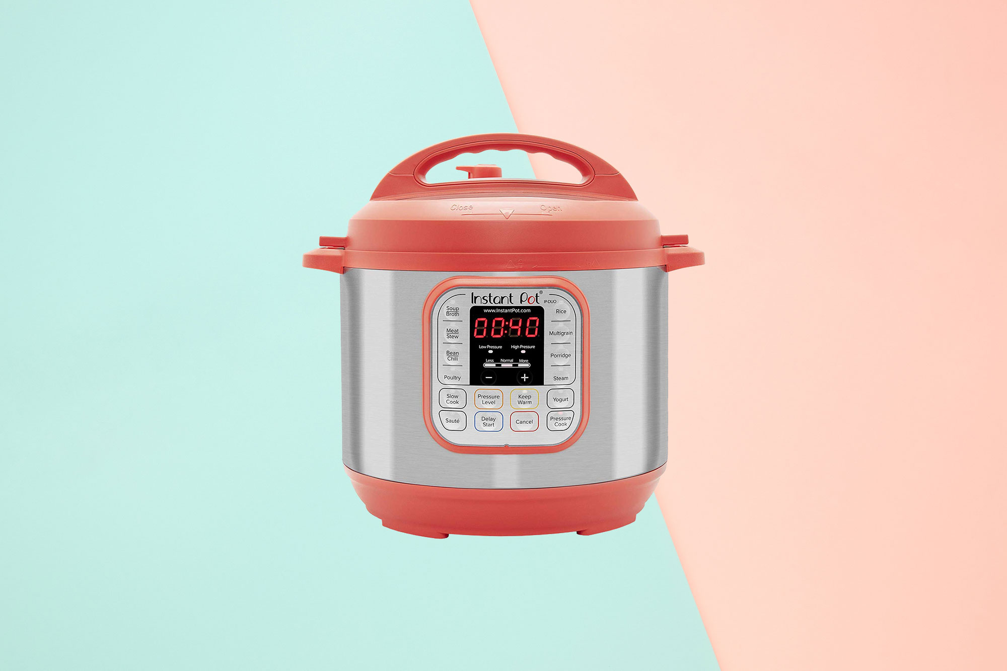 Instant Pot Duo RED 60 7-in-1 Multi-Use Programmable Pressure Cooker