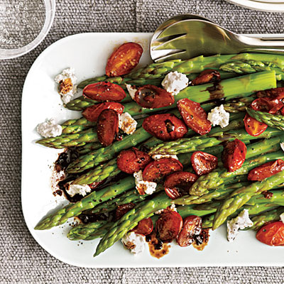 Tomatoes : Topped with crumbled goat cheese, crisp-tender asparagus ...