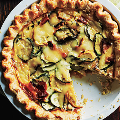 1. Summer Squash, Bacon, and Mozzarella Quiche: Is there anything better than quiche? Creamy, savory goodness in a pie crust: Perfection. And this recipe has bacon.