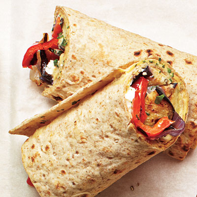 Grilled Veggie and Hummus Wraps : Perfect for a brown-bag lunch ...