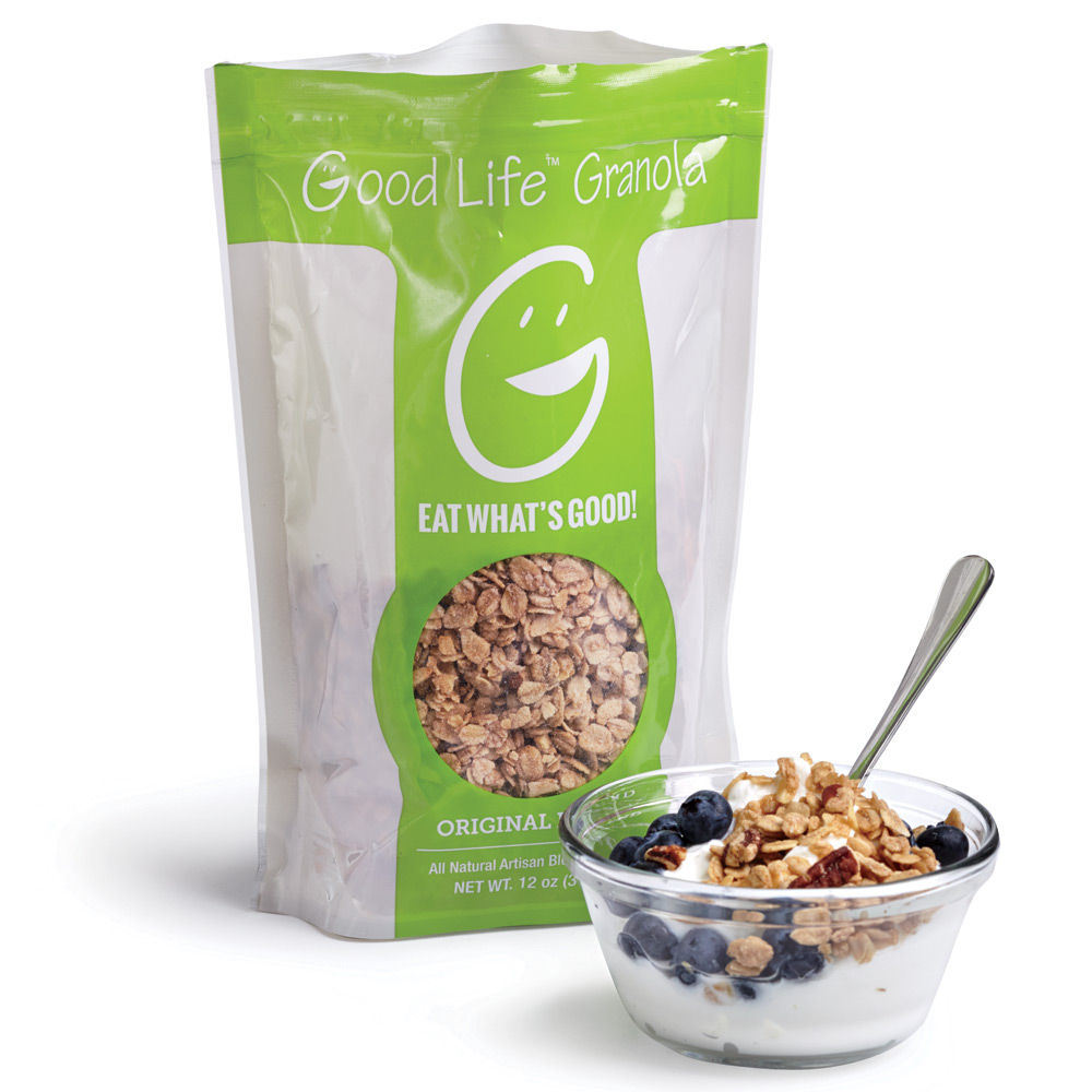 Available in 4 flavors, $6.50, goodlifegranola.com