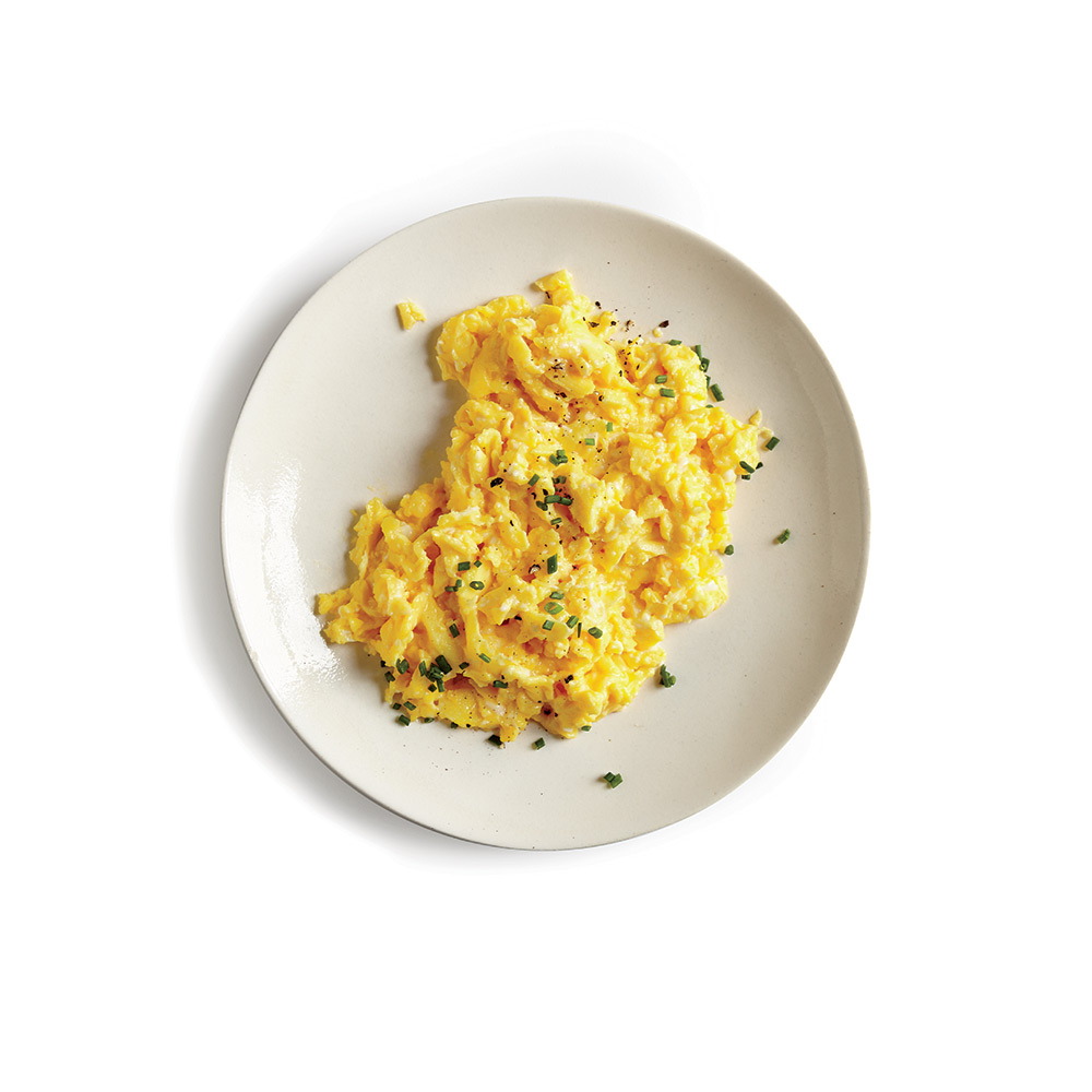 Scrambled Eggs - Some folks swear by salsa or ketchup. I swear by caramelized onions (and mushrooms if I have them on hand). The delicate caramelized sweetness pairs beautifully with a scrambled egg or two.