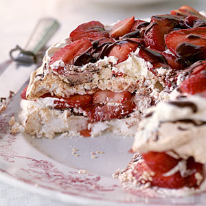 Strawberry-Chocolate Meringue Torte Dessert Recipes
