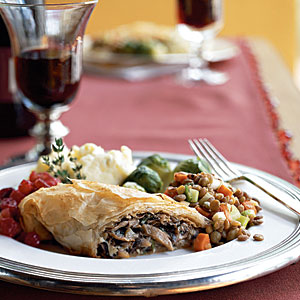 Breakfast for Dinner: Mushroom and Caramelized-Shallot Strudel Recipe