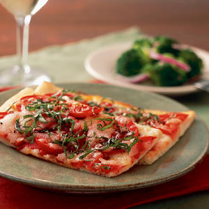 Healthy Quick Pizza Margherita Recipe