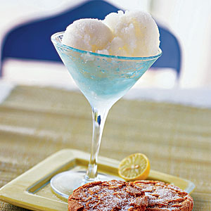 Key Lime Sorbet with Gingersnaps Recipes