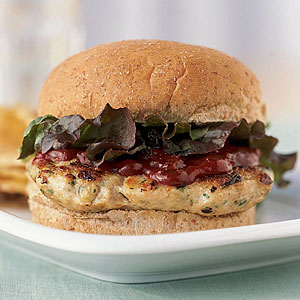 Cilantro Turkey Burgers with Chipotle Ketchup