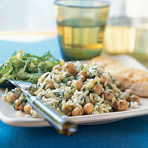 Chickpea and Orzo Dinner Salad