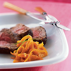 Winter's Best: Pepper-Crusted Beef Tenderloin with Kumquat Marmalade