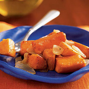 Oven-Roasted Sweet Potatoes and Onions