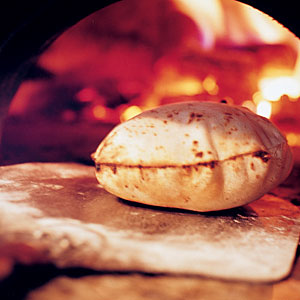 Pita Bread in Oven