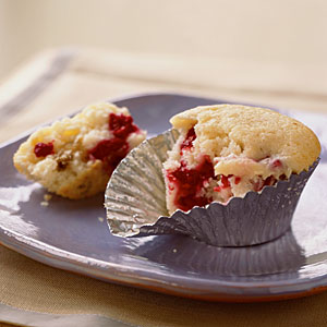 Raspberry-Cream Cheese Muffins Recipe