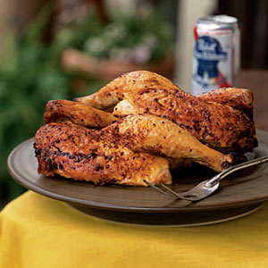 4th of July Recipes: Beer-Can Chicken with Cola Barbecue Sauce
