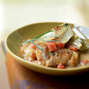 Chicken with Fennel, Tomato, and Tarragon Vinegar
