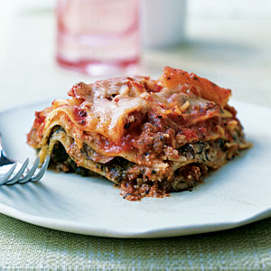 Pesto Lasagna with Spinach and Mushrooms Recipe