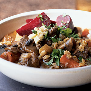 Healthy Beef, Beer, and Barley Stew Recipe