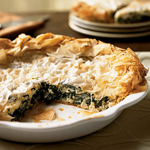 Greek Greens and Sweet Onion Pie Recipe