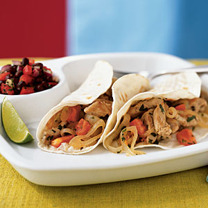 Lime-Cilantro Pork Tacos Recipe