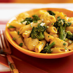 Curried Chicken Penne with Fresh Mango Chutney