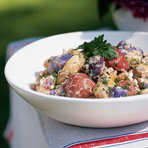 4th of July Recipes: Red, White, and Blue Potato Salad