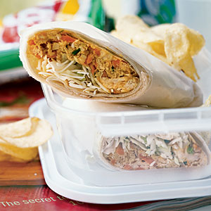 Chicken Sate Wraps