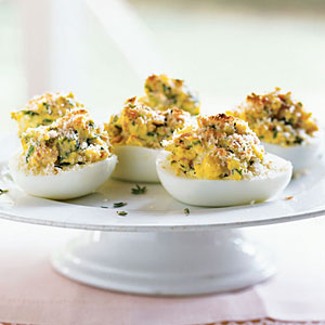 Healthy French-Style Stuffed Eggs Recipe