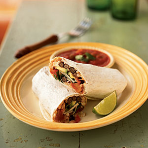 Double-Bean Burritos