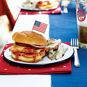 4th of July Recipes: Honey-Chipotle Barbecue Chicken Sandwiches