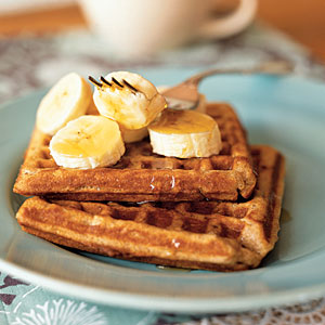 Flaxseed: Banana-Cinnamon Waffles Recipes